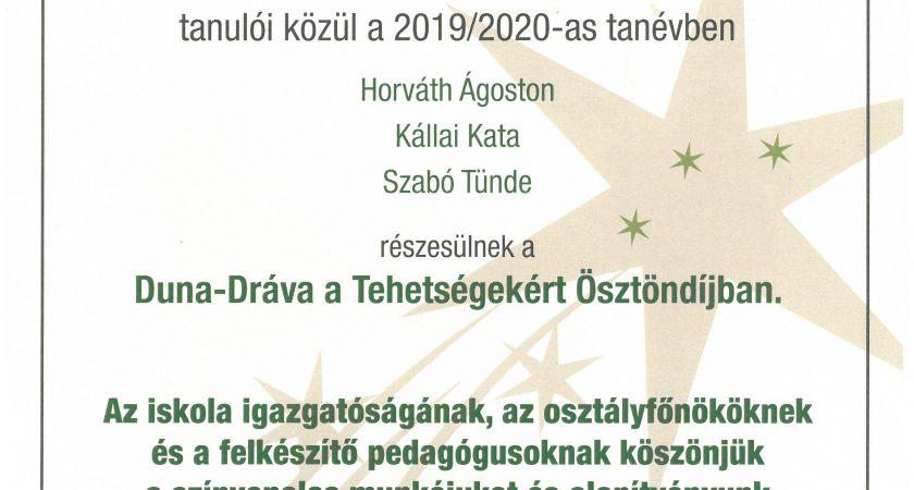 Duna-Dráva a Tehetségekért Ösztöndíj