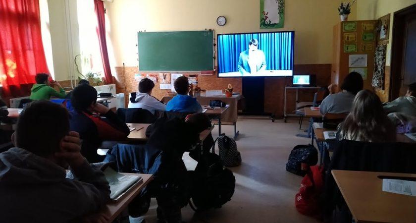 A Világ Legnagyobb Tanóráján a 7. a osztály